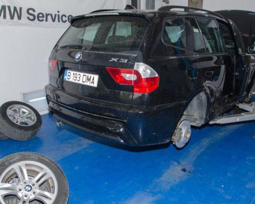 Inlocuire discuri si placute fata spate + amortizoare fata BMW X3 e53